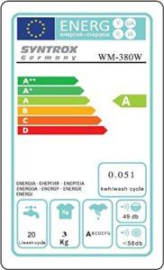 Mini-Waschmaschinen Test_Energie sparend